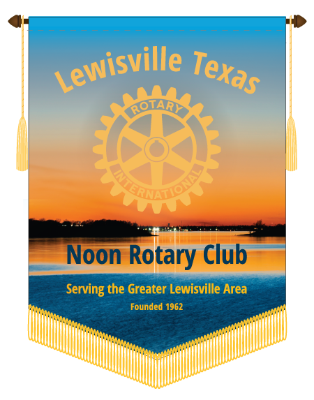 Lewsville Noon Rotary Club Trading Banner