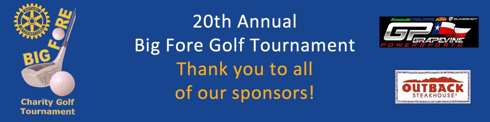 2018 Big Fore Golf Tournament