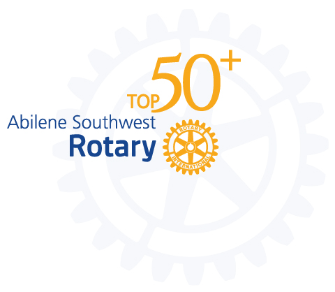 Abilene Southwest Rotary Club Top 50+ Banquet Logo