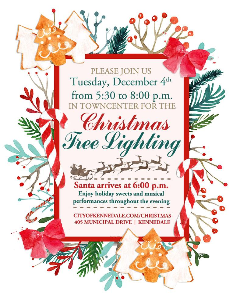 Please join us for the Christmas Tree Lighting Festival Tuesday, December 4, from 5:30 to 8:00 p.m. in Kennedale TownCenter (405 Municipal Drive). You can get more information at www.cityofkennedale.com/christmas.     2018 Kennedale TownCenter Christmas Tree Lighting Festival Tuesday, December 4, from 5:30 to 8:00 p.m. TownCenter Park  |  405 Municipal Drive, Kennedale www.cityofkennedale.com/christmas https://www.facebook.com/events/333723807189389/