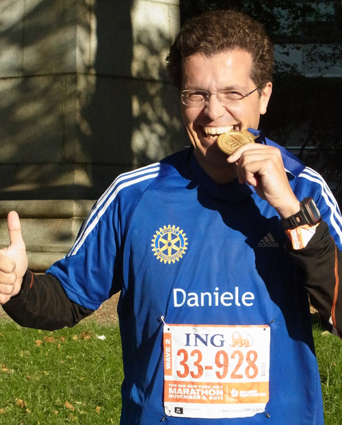Daniele has been finished the New York Marathon