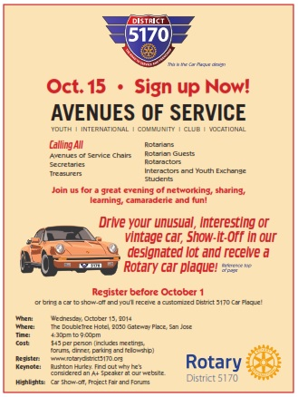 Avenues of Service | Rotary Club of Gilroy-South County Sunrise