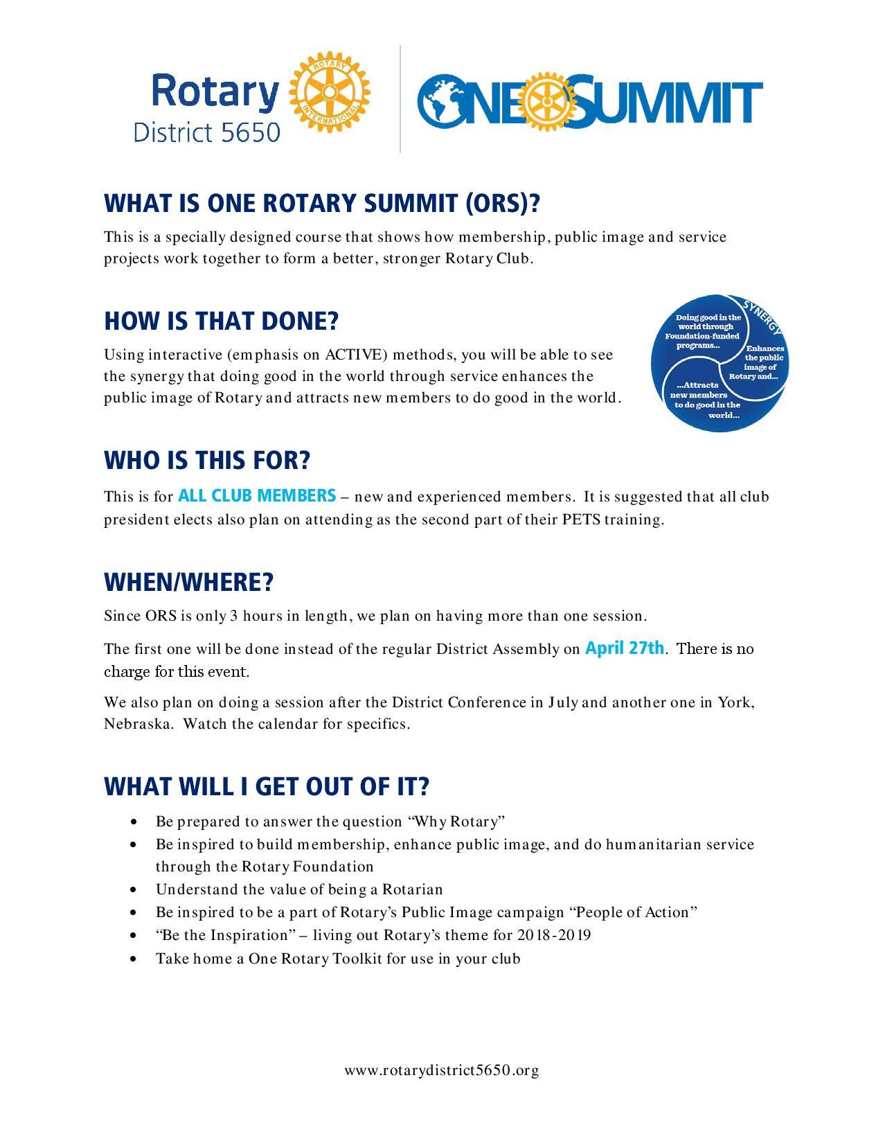 sign up for one rotary summit
