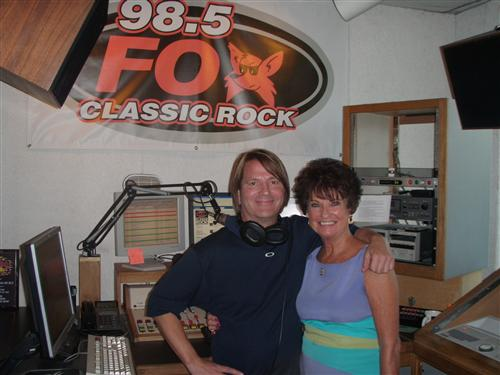 President Carol Smith with Mark Montana DJ 98.5 The Fox