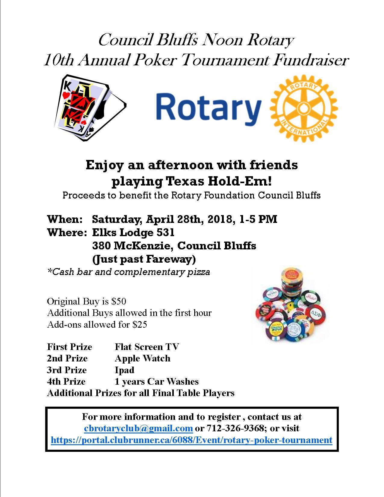 CB Noon Poker Tournament | Rotary Club of Omaha (Downtown)
