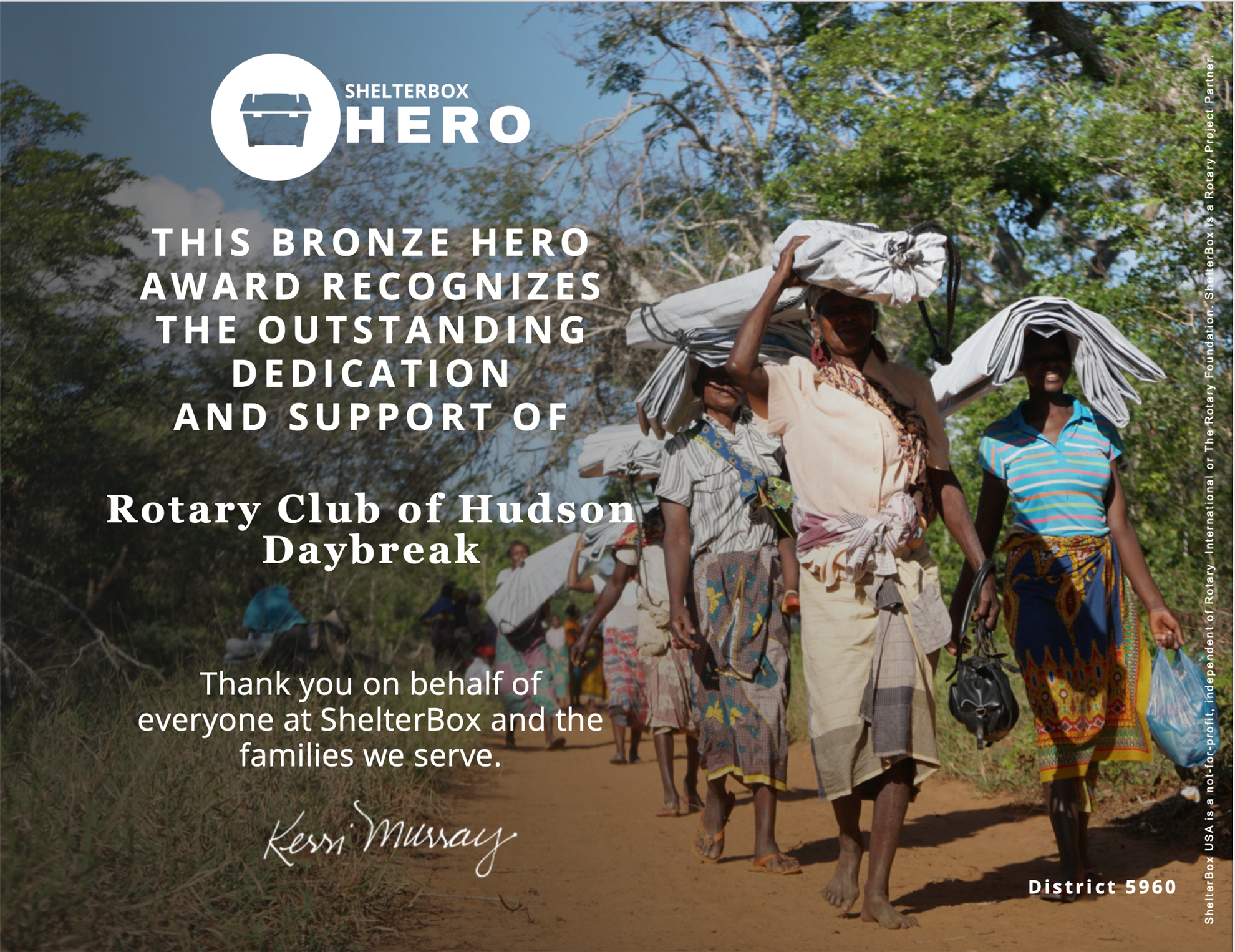 ShelterBox HERO Award