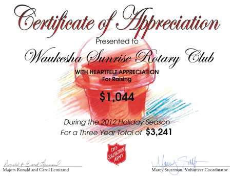Salvation Army Certificate of Appreciation – Army Certificate of Appreciation