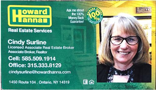 Cindy Surline, Howard Hanna Real Estate Services