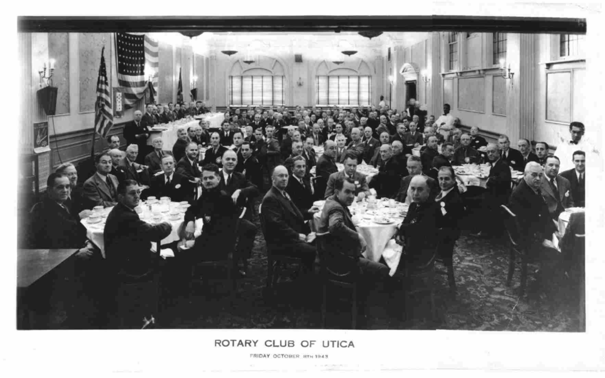 1949 Rotary meeting at Hotel Utica