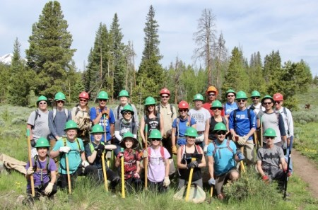 Trail Building Group in June 2019
