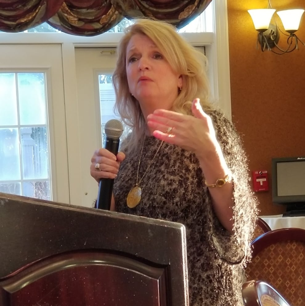 Wendy Baumann, Executive Director of Wisconsin Women's Business Initiative Corporation was our guest speaker at last week's meeting. Photo by Bob Blazich.