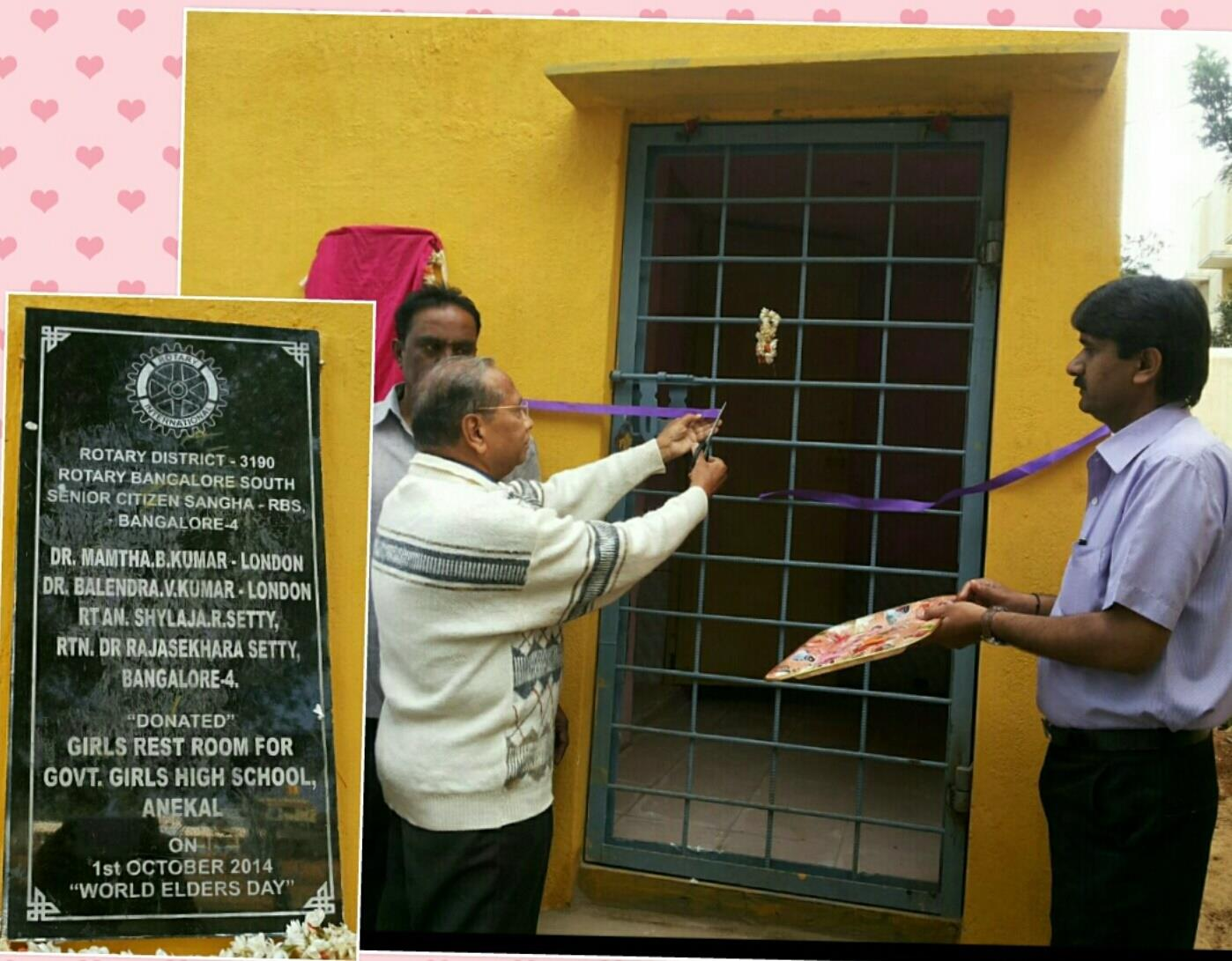 Stories Rotary Club Of Bangalore South Savico Ekstra Virgin Coconut Oil By Sagha A Comfort Station For Girls Was Inaugurated Rtn Dr Rajasekhara Setty Chairman Sr Citizens Ri Dist 3190 On 24th Dec 2014 Speaking This Occasion