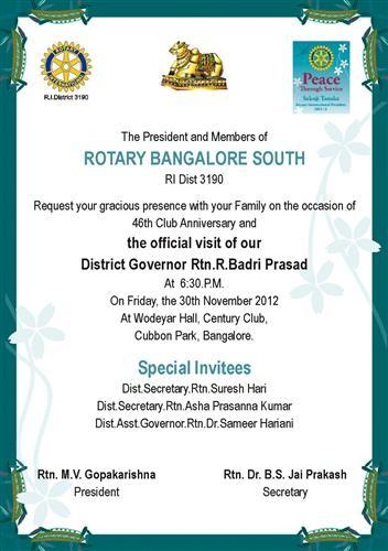 invitation for governor official visit