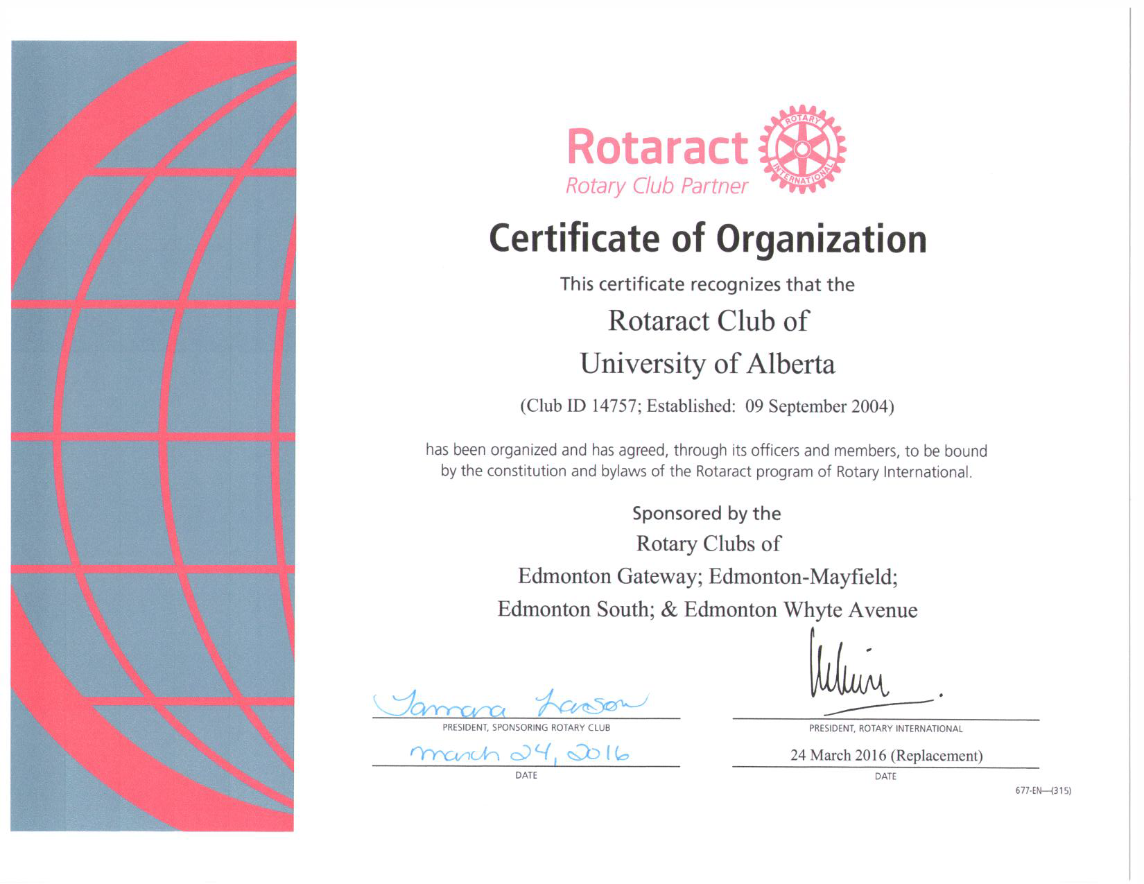 Announcing our new partnership with the rotaract club from for Rotary certificate of appreciation template