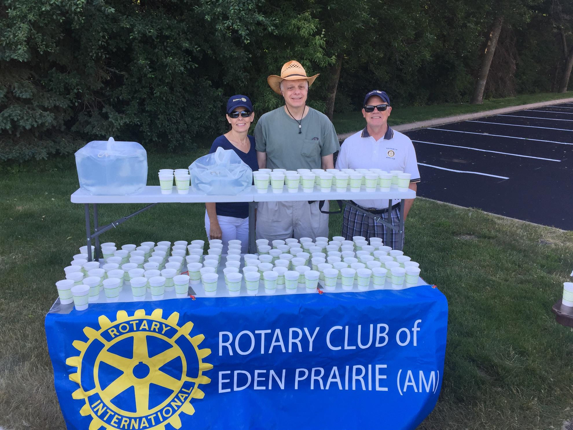 Served water at Stop Trafficking 5K Run/Walk