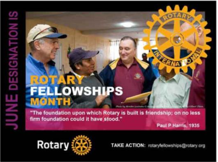 Rotary Theme for June - Fellowships | Rotary Club of St. Ives