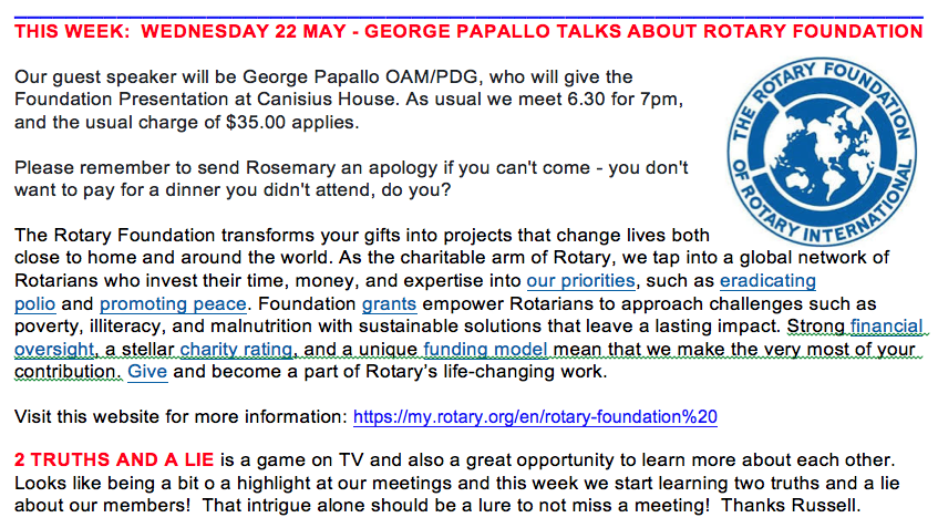 fd60bc9e4f9b0 DON'T MISS OUR ROTARY MEETING THIS WEEK