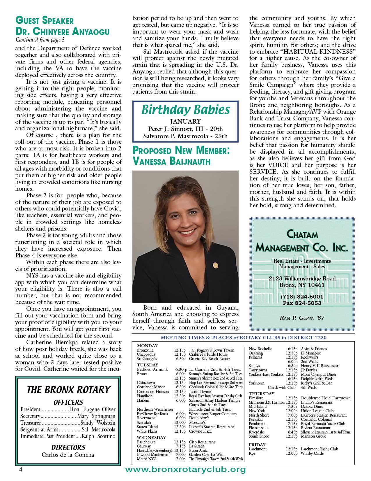 Tuesdays newsletter 1/12 & 1/19/2021 p4