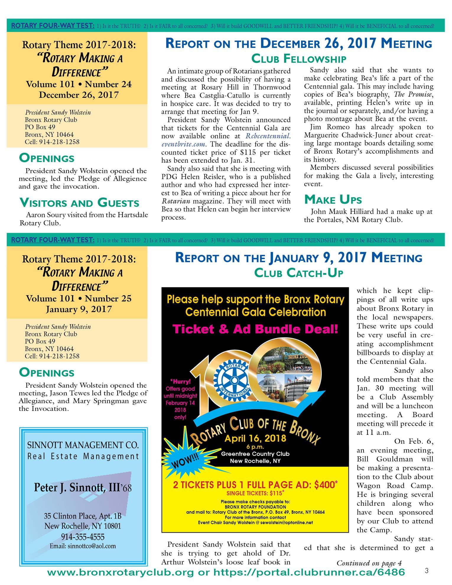 Tuesdays Newsletter 12/19 & 12/26/17 & 1/9/18 p3