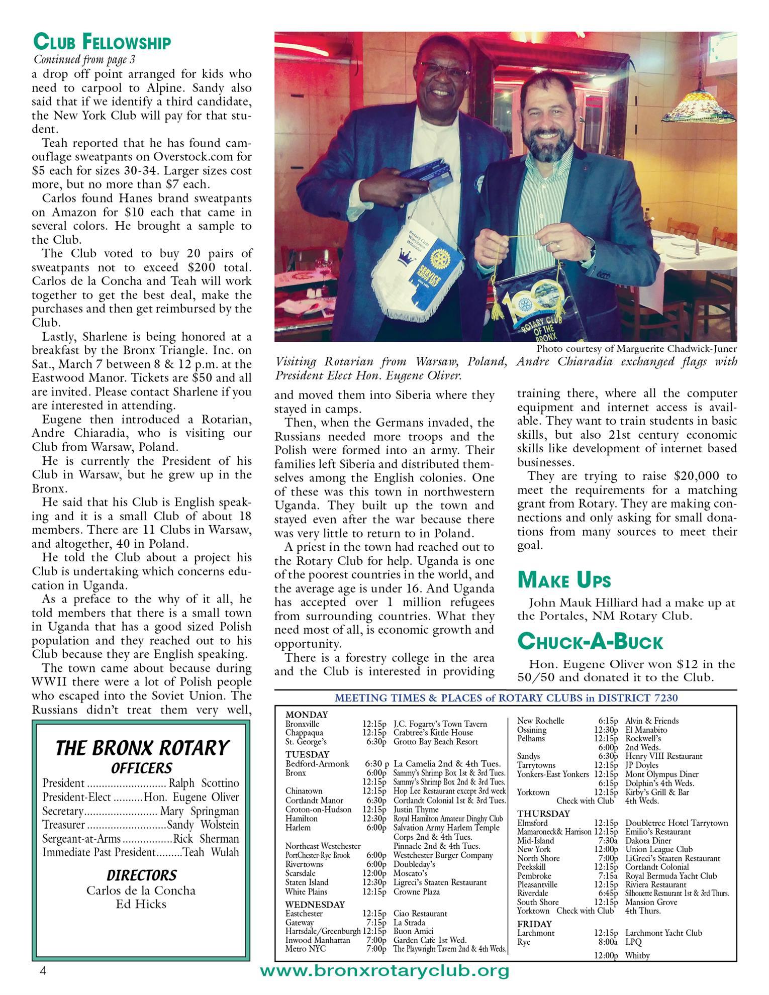 Tuesdays Newsletter 2/4, 2/11 & 2/18/2020 p4