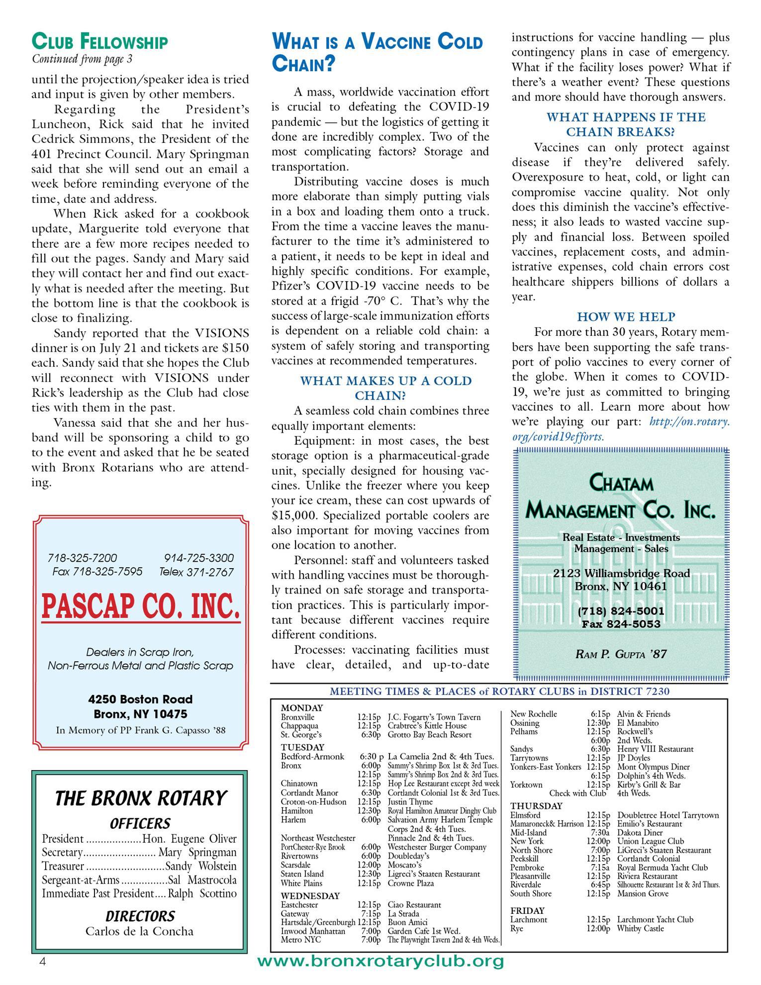 Tuesdays newsletter 5/25, 6/1 & 6/8 2021 p4