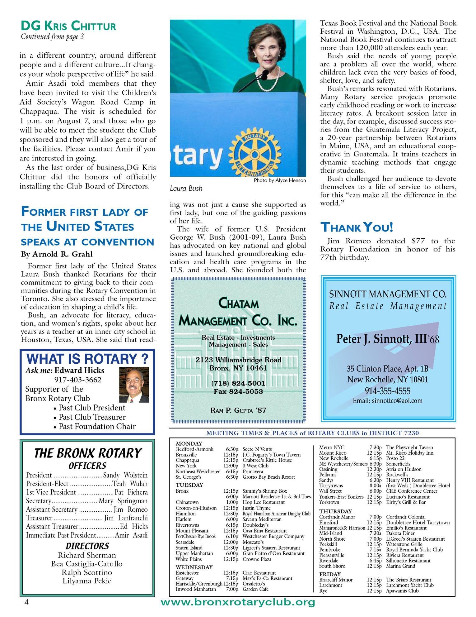 Tuesdays Newsletter 7/10, 17 & 24/2018  p4