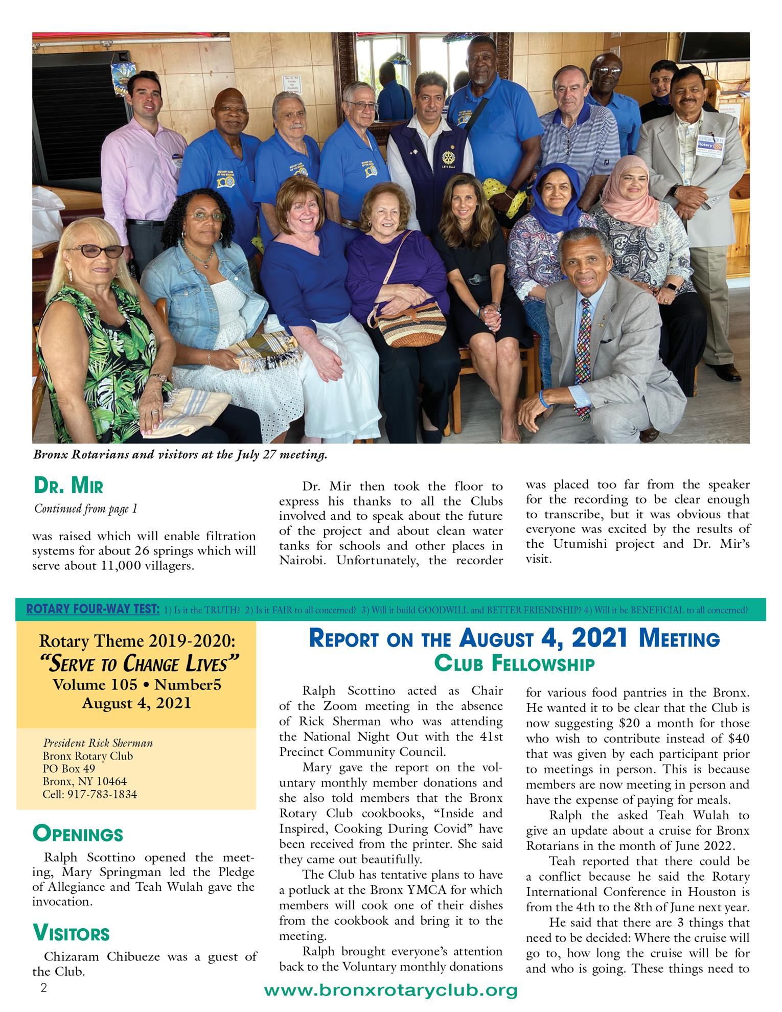 Tuesdays newsletter 7/27, 8/4 & 8/10/2021 p2