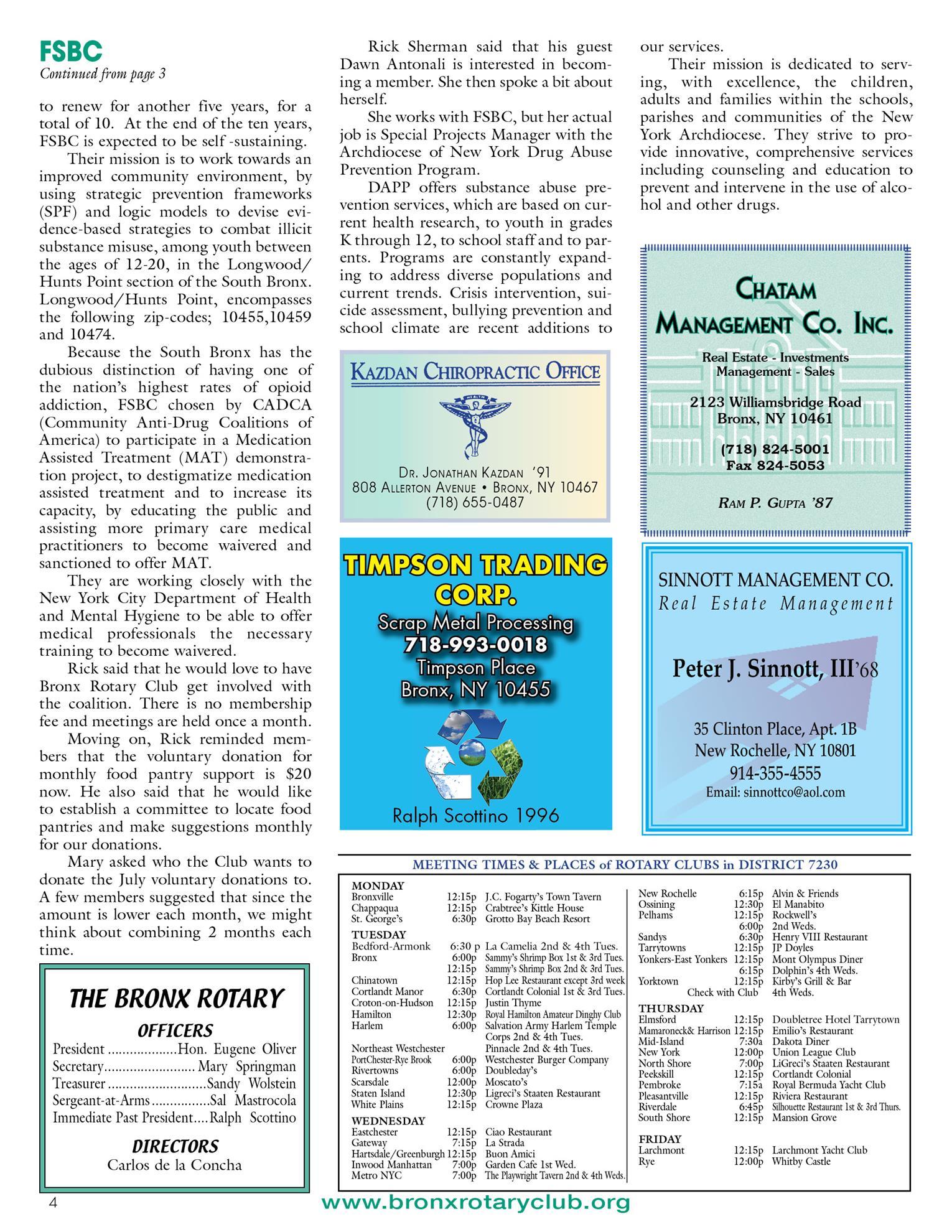 Tuesdays newsletter 7/27, 8/4 & 8/10/2021 p4