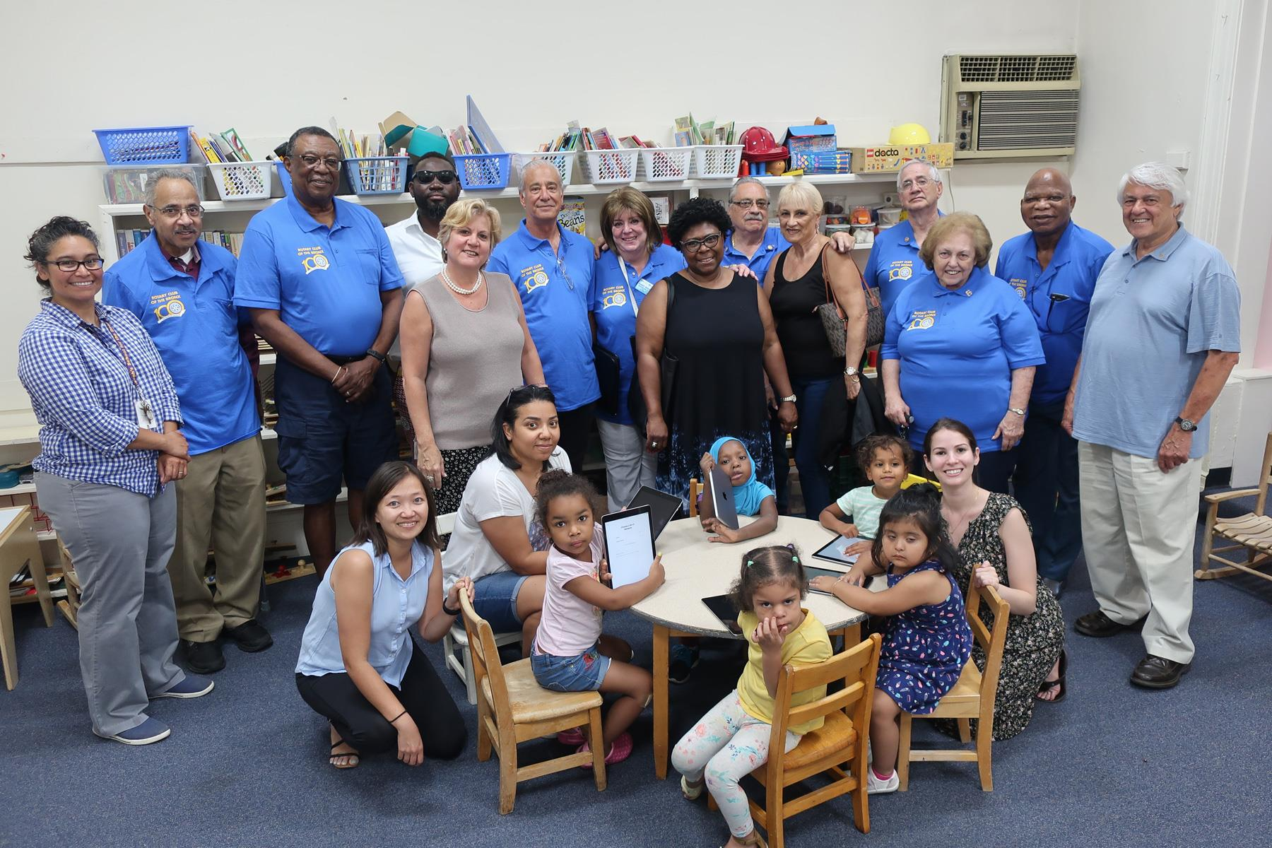 Bronx Rotary Club at St. Joseph's School for the Deaf