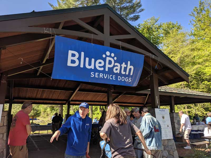 BluePath banner hanging from pavilion.