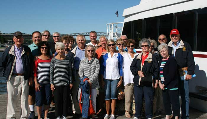 Peekskill Rotary members on Hope for Youth cruise