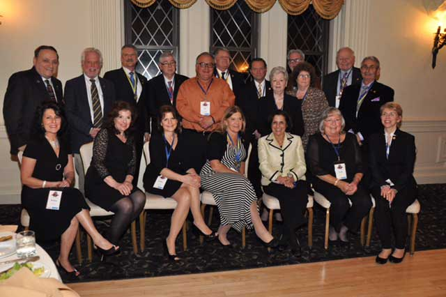 Peekskill Rotary members at 2016 Paul Harris Dinner