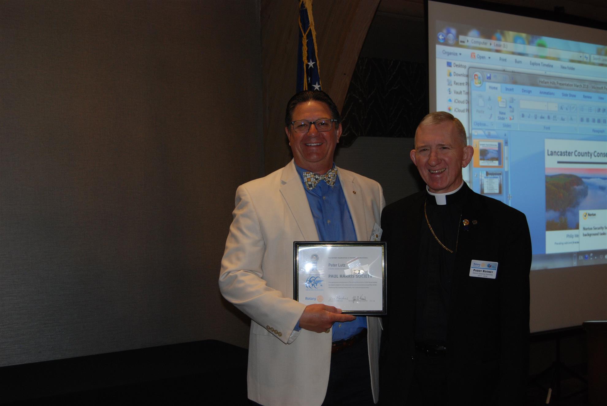 Paul Harris Society Award and Lancaster County Conservancy