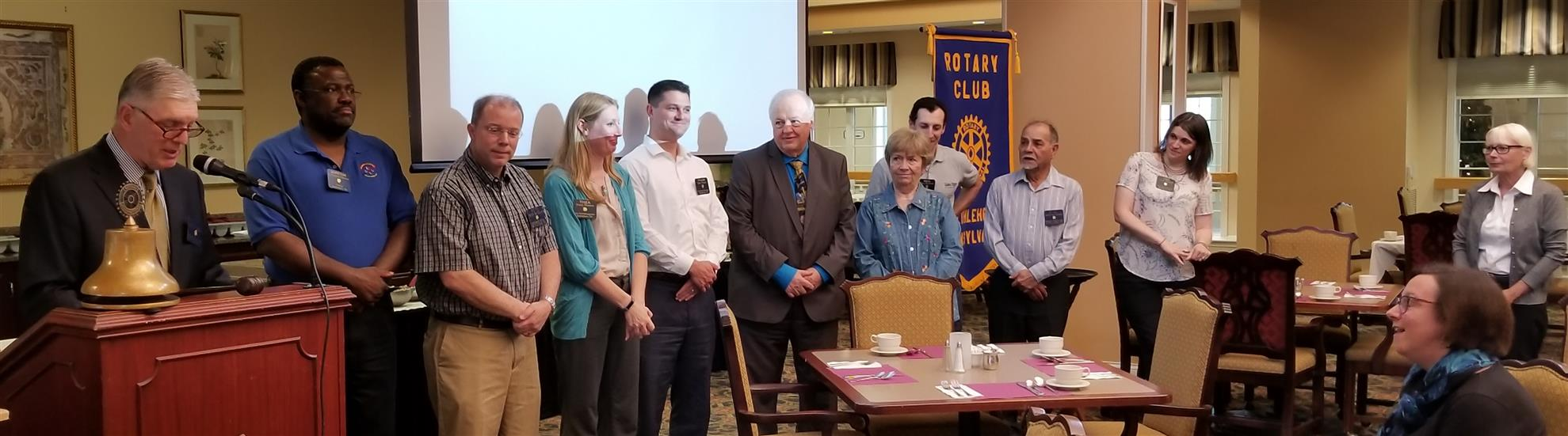 NEW OFFICERS & BOARD TAKE OATHS FOR 2018-19 YEAR