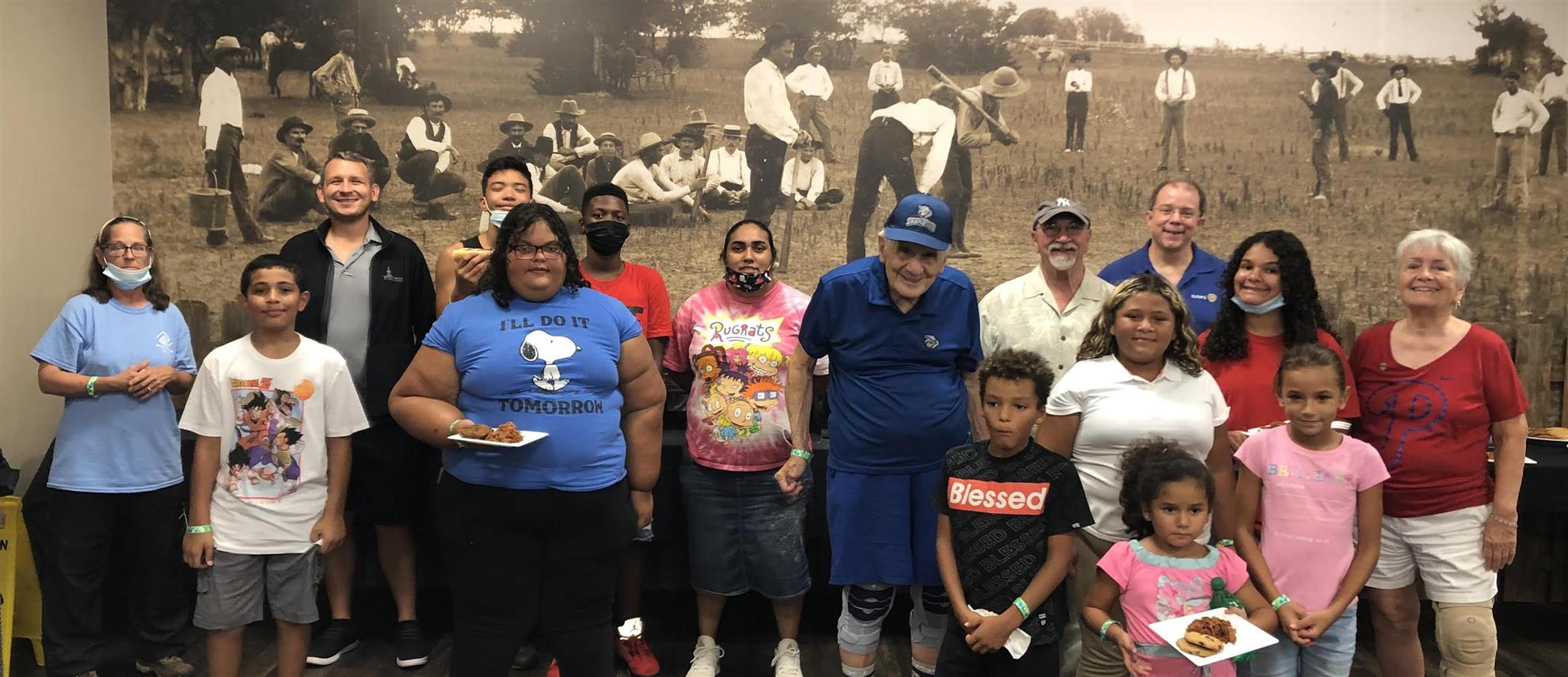 2021 Rotary Strikes out Hunger with B&G Club kids