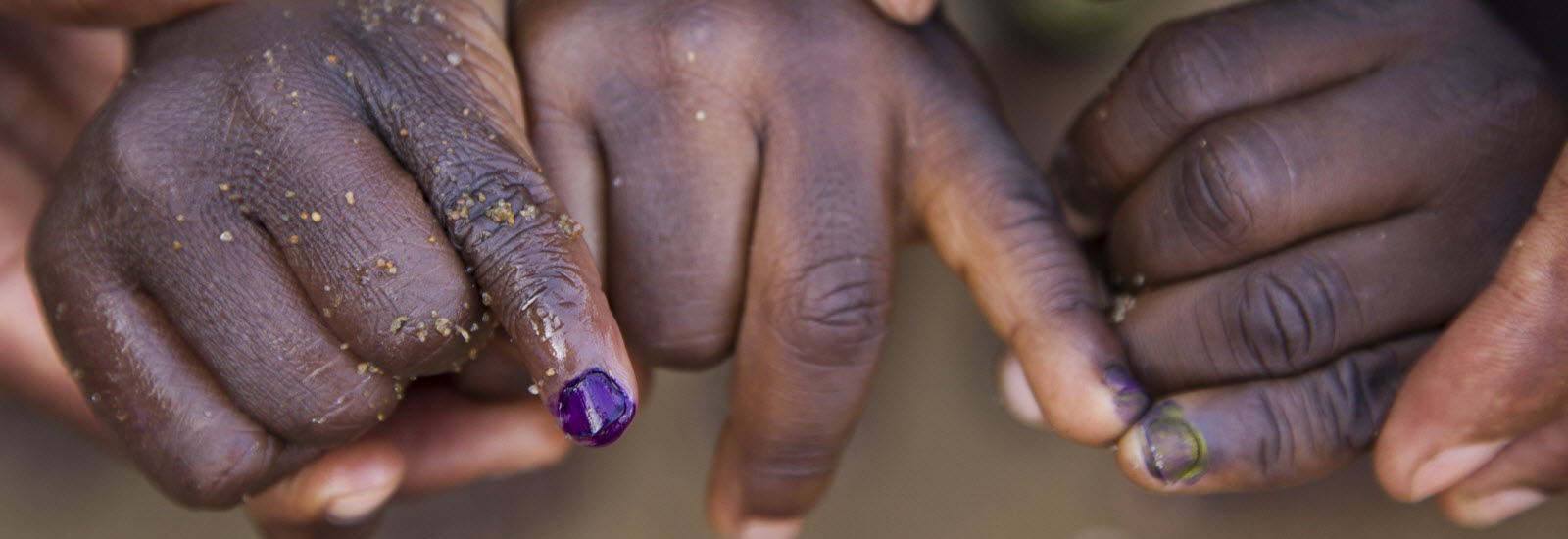 1 PURPLE PINKIE = 1 CHILD WITHOUT POLIO