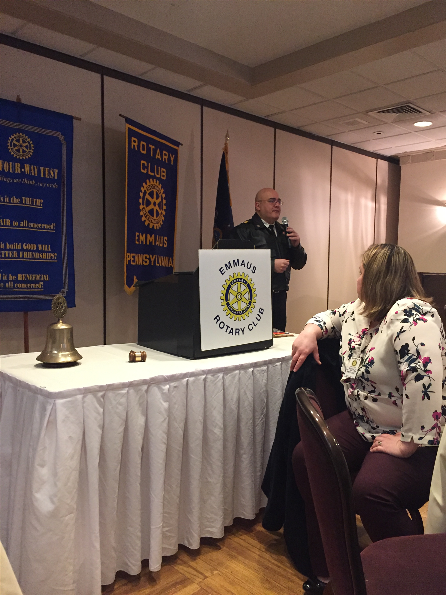 Chief Pace met Emmaus Rotary last week and presented his experience as  being chosen out of thousands of applicants to serve as a Rotary Peace  Scholar. bf6ba52511f