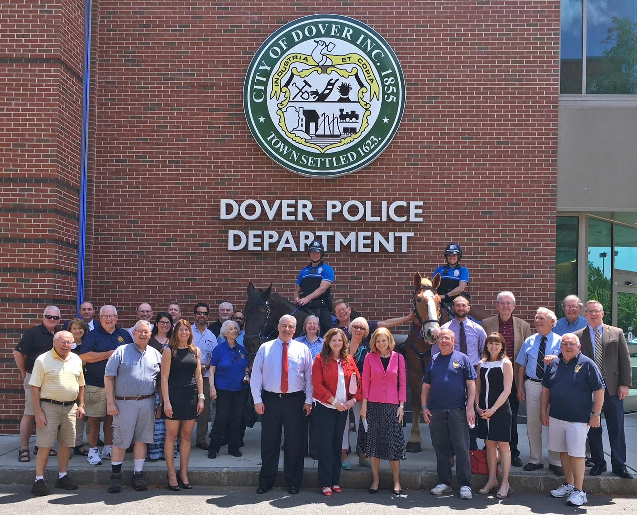 Rotary Meets Dover Mounted Patrol