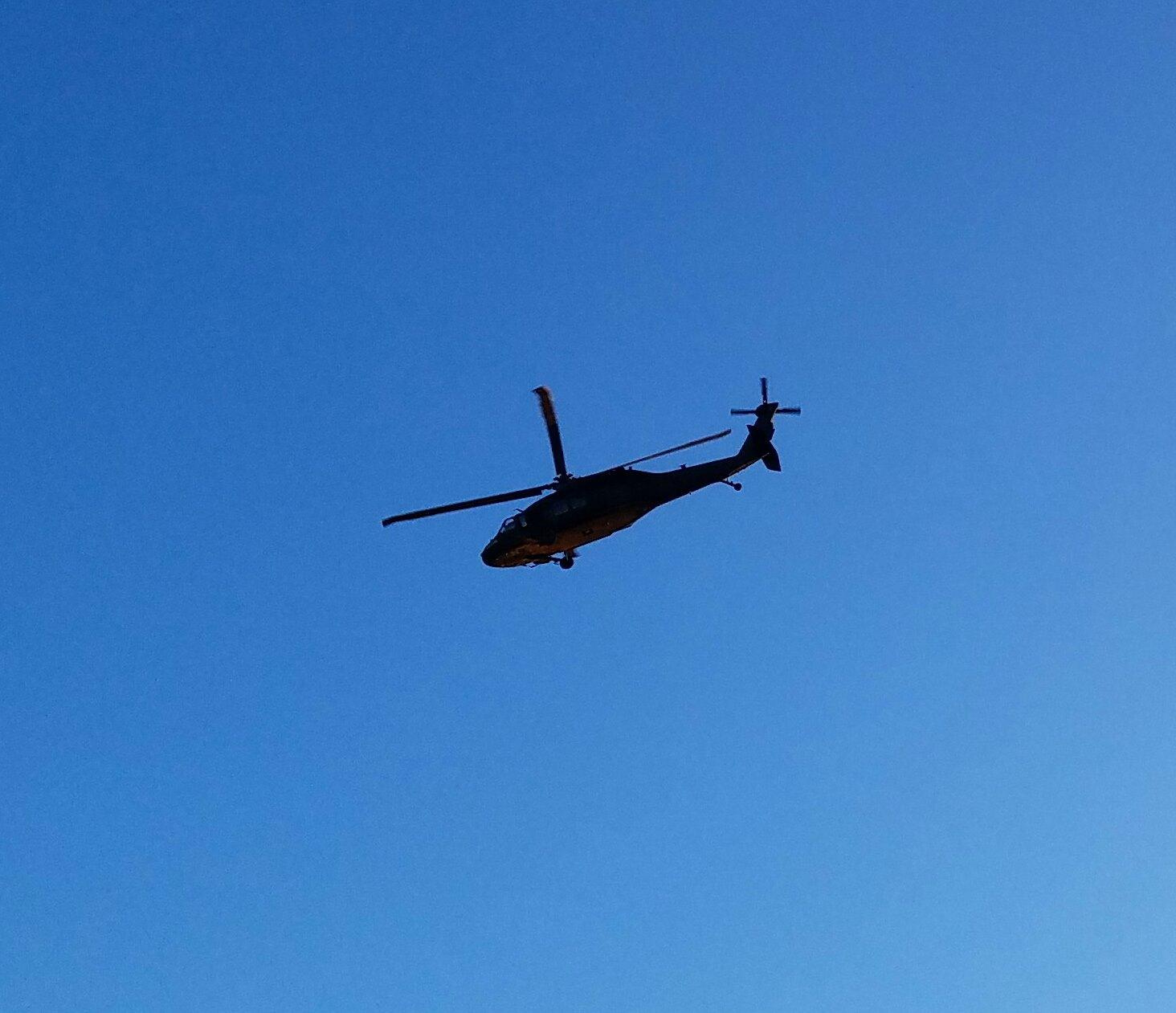 Blackhawk Helicopter flyover.