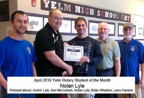 April 2016 Student of the Month