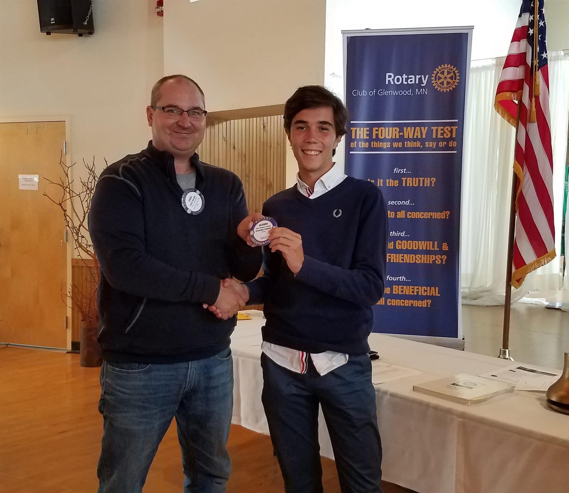 2018-2019 Foreign Exchange Student: Alvaro