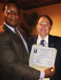 L Bailey presented Paul Harris Society Award to Jerome Blaha