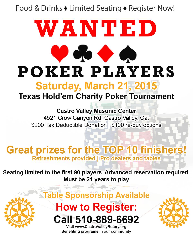 2015 Poker tournament