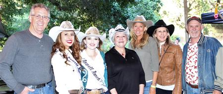 Rotarians at the Chili Cook-off with the Rodeo Queens