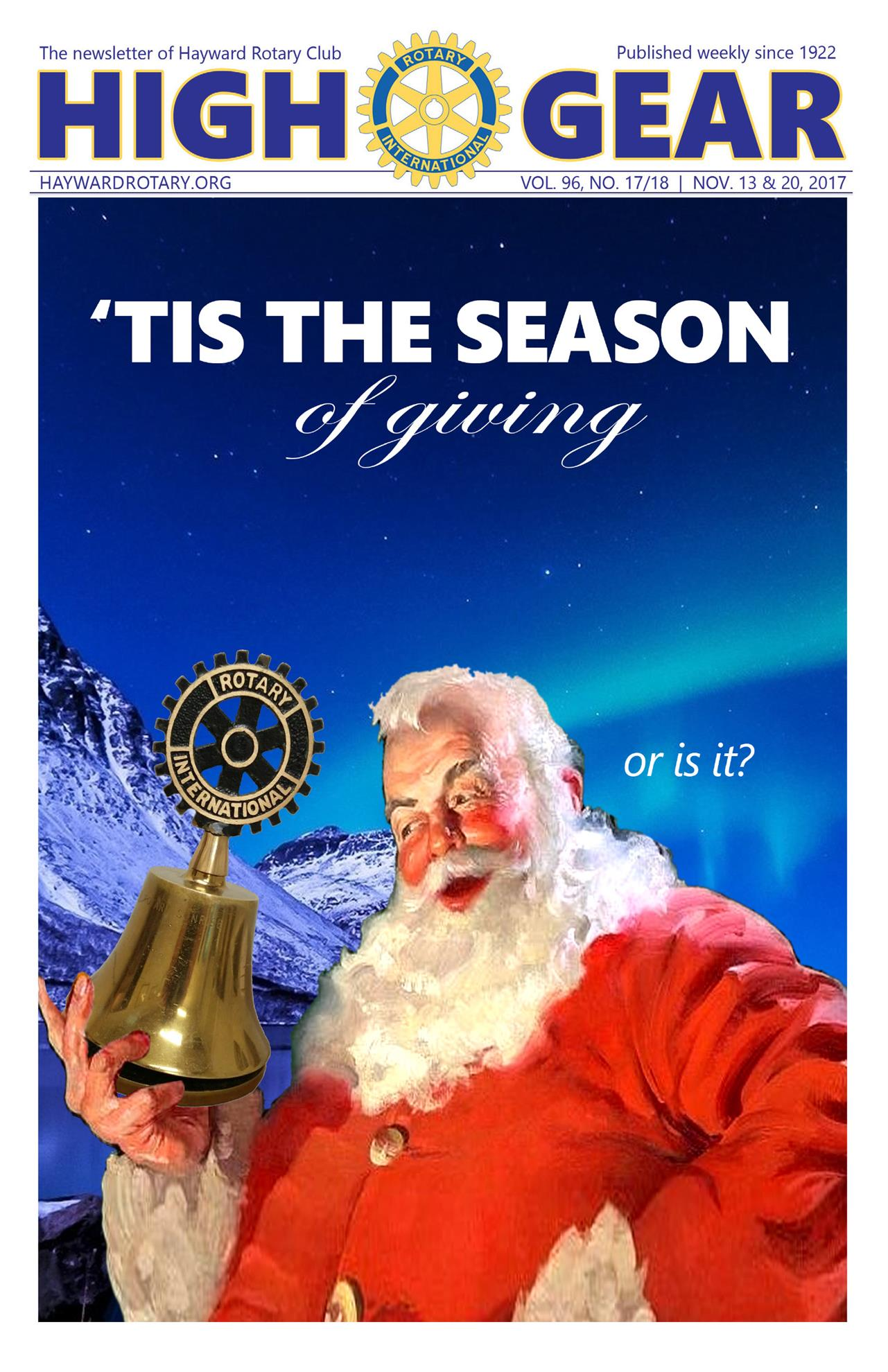 """November 13 & 20, 2017: """"'Tis the Season of Giving - Or is it?"""""""