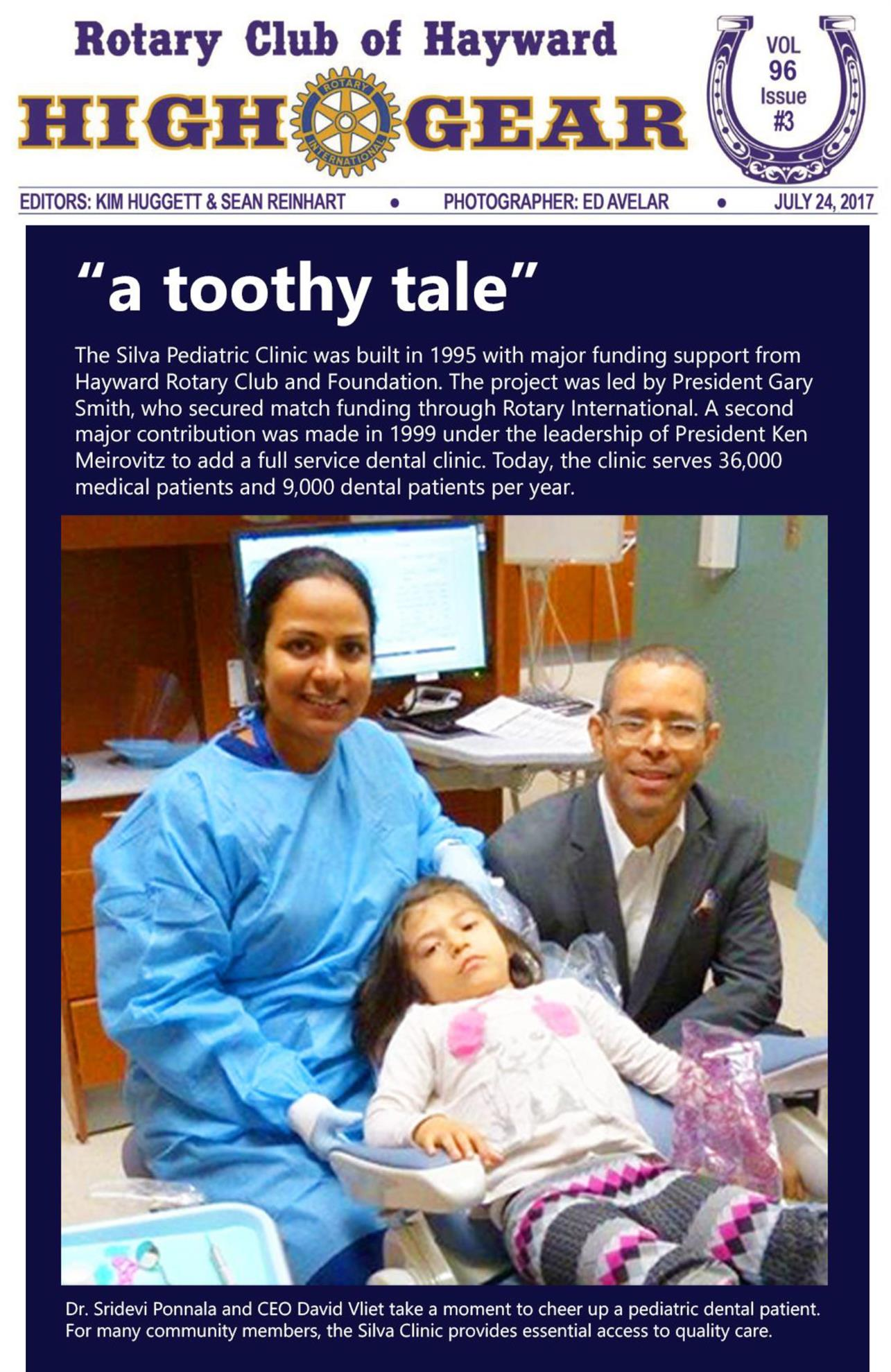 """""""A Toothy Tale"""" - July 24, 2017"""