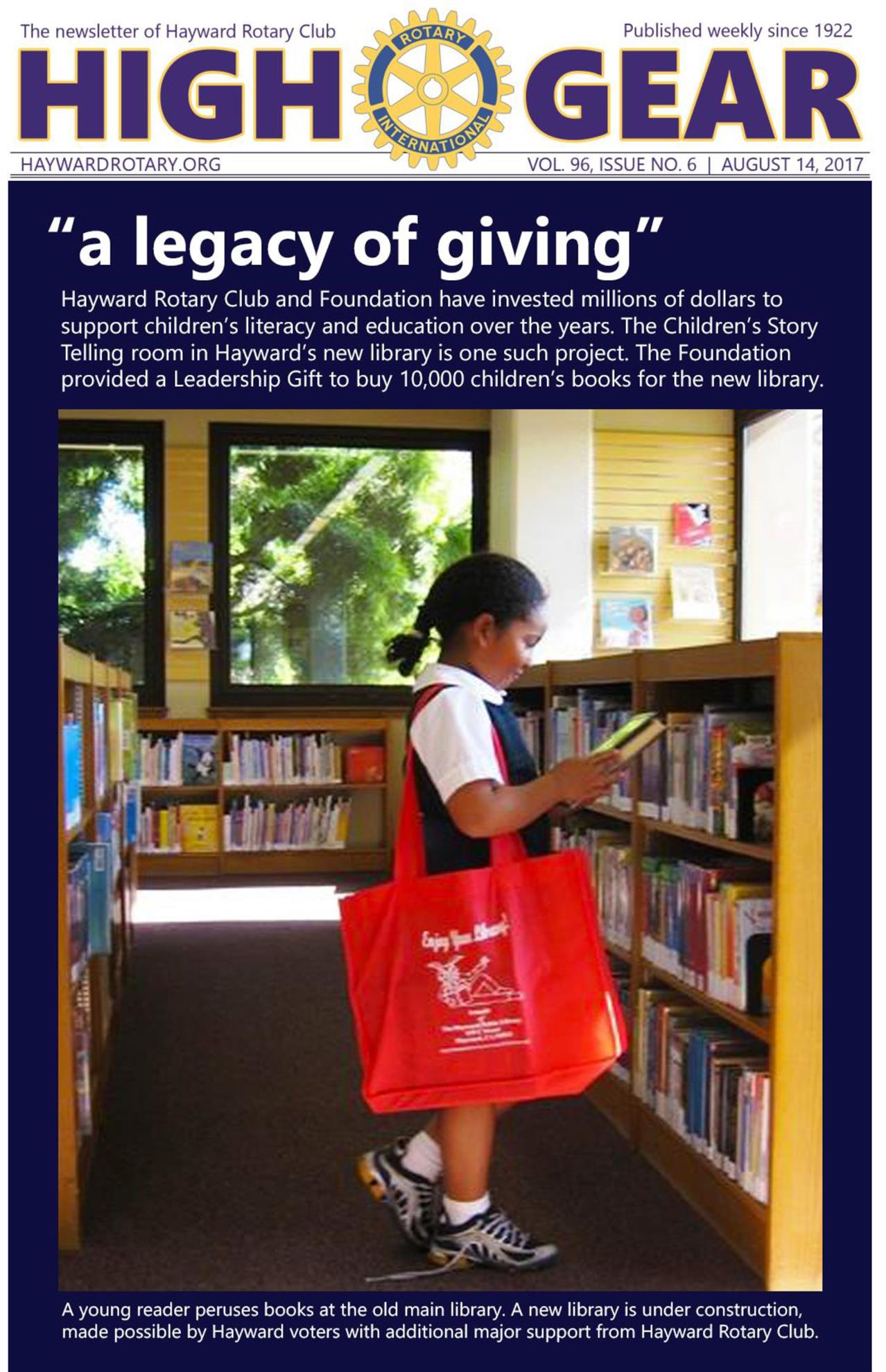 """""""Legacy of Giving"""" - August 14, 2017"""
