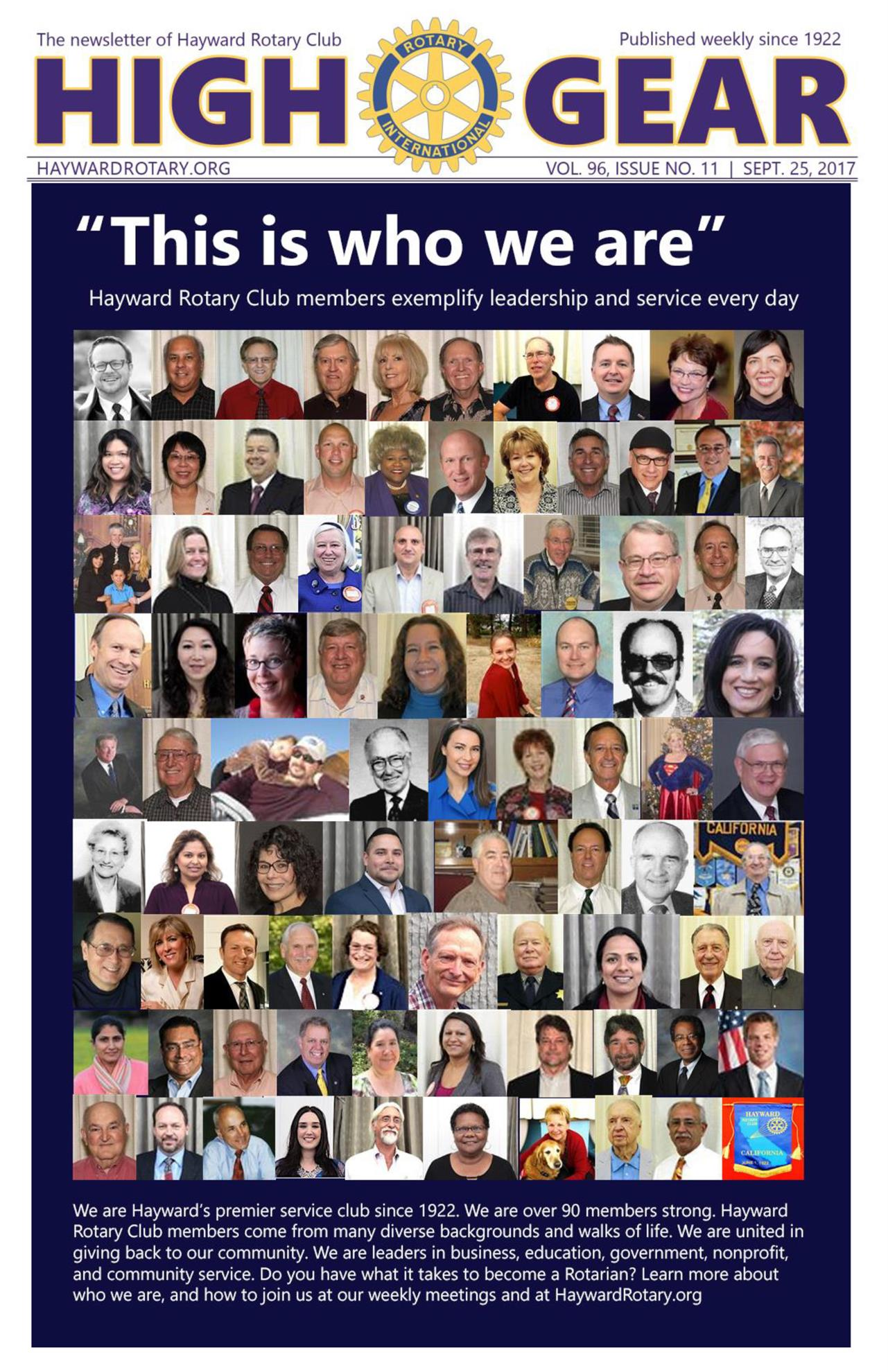 """""""This is who we are"""" - Sept. 26, 2017"""