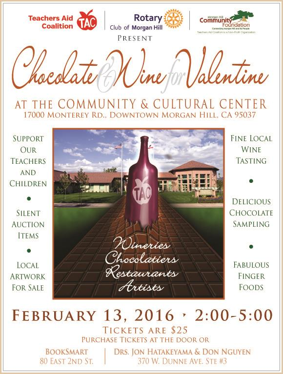 Rotary Co Sponsors Tac S Chocolate And Wine For Valentine