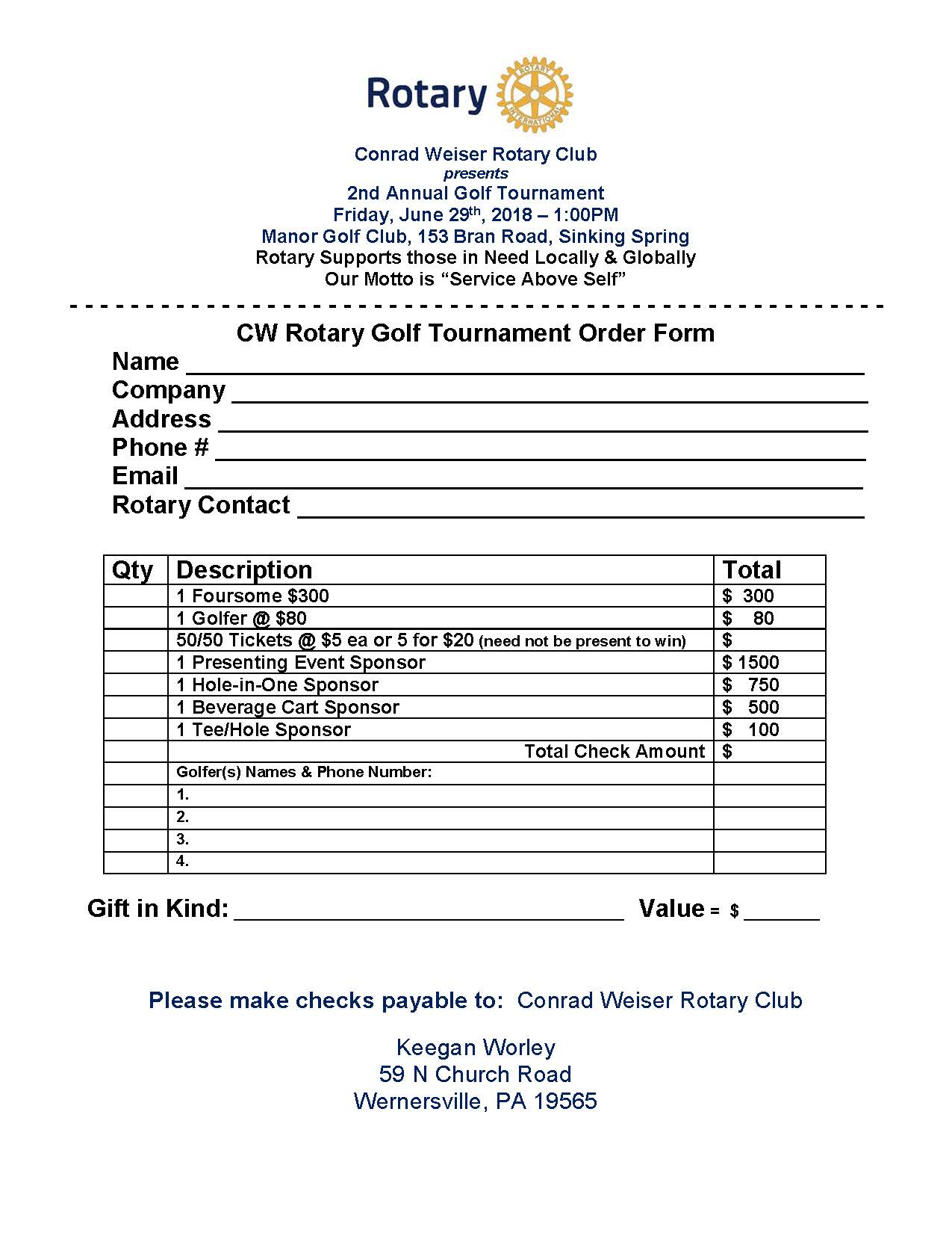 2nd Annual Golf Tournament @ Manor Golf Club - Friday